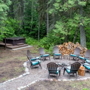 Glacier Bear Retreat Fire Pit And Hot Tub