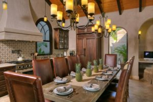 Villa Calypso Great Room Dining Table And Kitchen